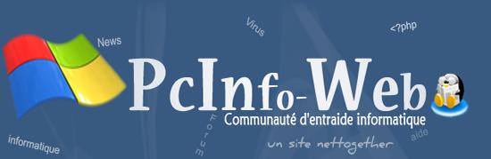 Bienvenue sur PCInfo-Web ! - Communauté d'entraide informatique et multimédia